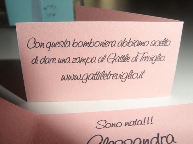 Amato Bomboniera Solidale - Gattile Treviglio YZ59